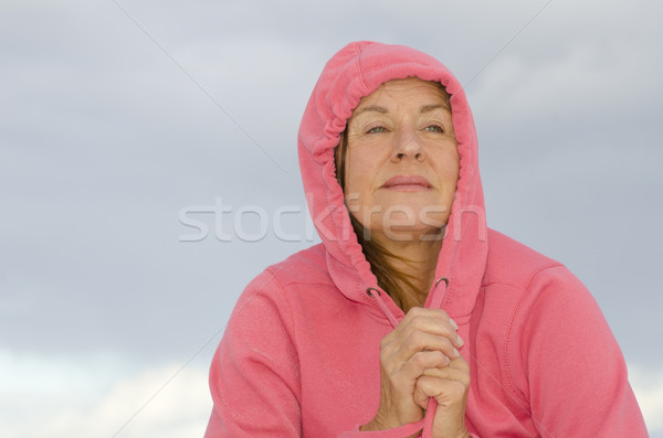 Sad contemplating mature woman Stock photo © roboriginal
