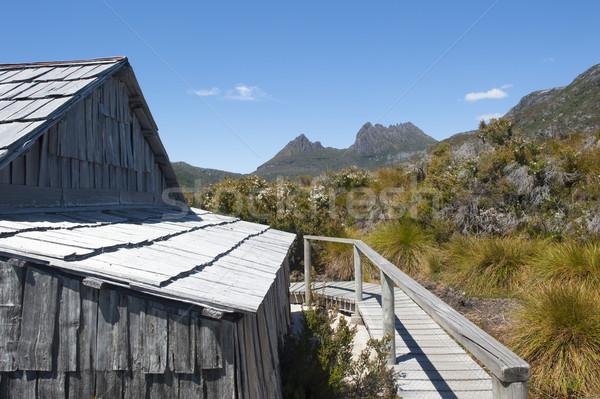 Kołyska górskich tasmania historyczny chata sceniczny Zdjęcia stock © roboriginal