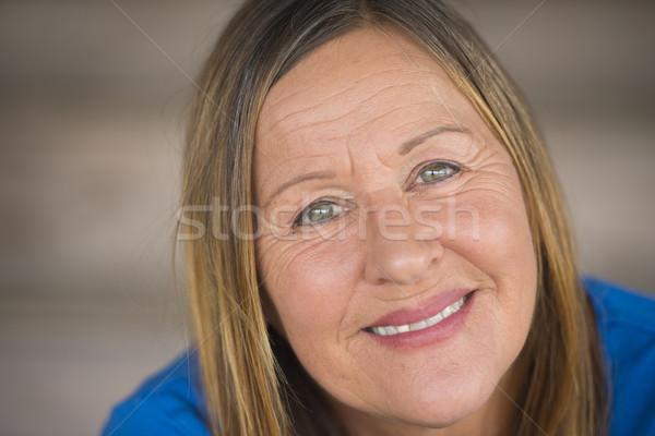 Beautiful happy mature woman portrait Stock photo © roboriginal