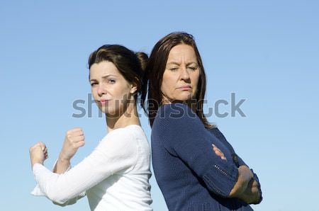 Dramatic argument between mother and daughter. Stock photo © roboriginal