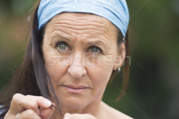 Portrait sad thoughtful depressed  woman Stock photo © roboriginal