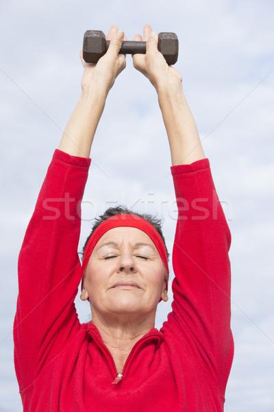 健康 成熟した女性 行使 肖像 美しい ストックフォト © roboriginal