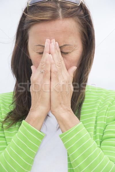 Szomorú nő bánat bánat portré vonzó Stock fotó © roboriginal