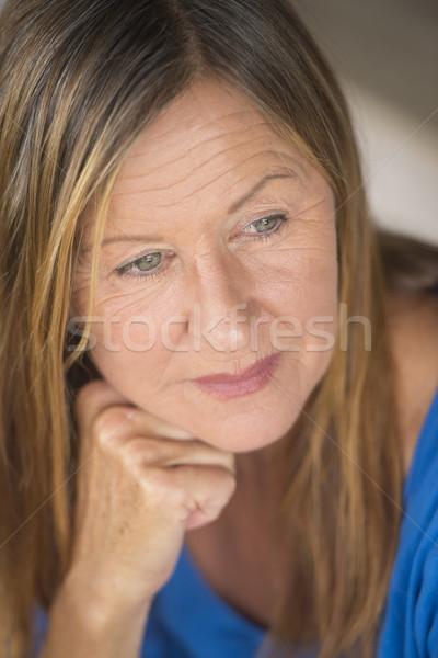 Thoughtful lonely woman portrait Stock photo © roboriginal