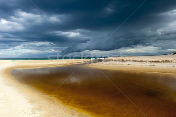 Ventoso tempo tempestade nuvem formação oceano Foto stock © roboriginal