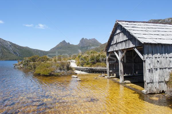 Historyczny łodzi kołyska górskich tasmania Australia Zdjęcia stock © roboriginal