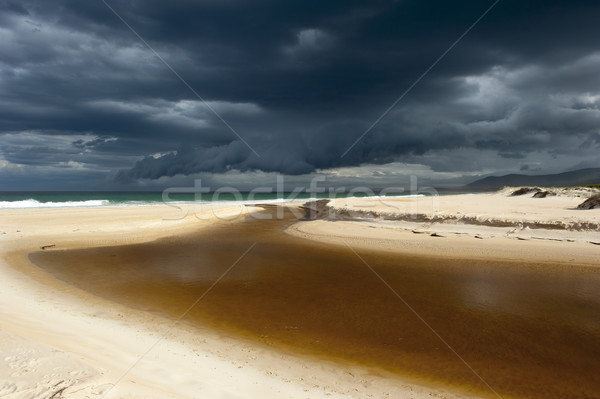 Stormy weather cloud formation ocean beach Stock photo © roboriginal