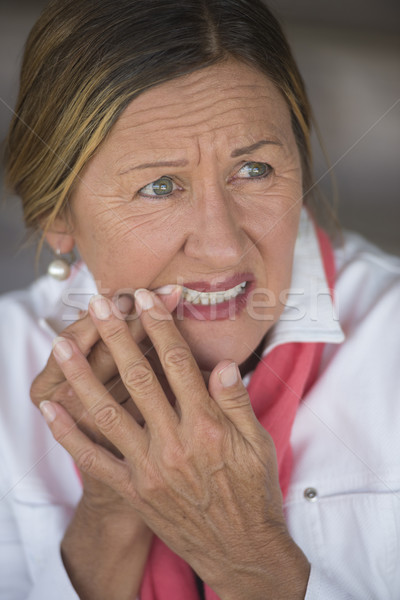 Woman with toothache in pain portrait Stock photo © roboriginal