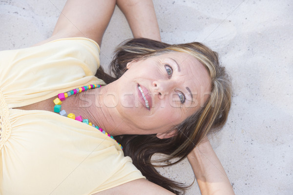 Stockfoto: Senior · vrouw · genieten · pensioen · portret
