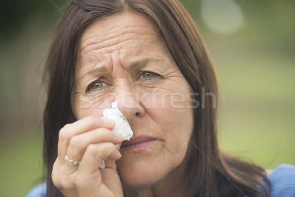 Woman in grief and depression Stock photo © roboriginal