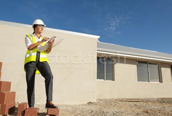 Female Architect construction site Stock photo © roboriginal