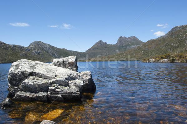 Wiege Berg Park See Wasser Wald Stock foto © roboriginal