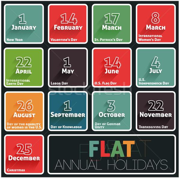 Holidays calendar Stock photo © robuart