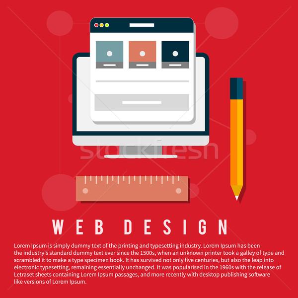 Program terv építészet számítógépmonitor képernyő web design Stock fotó © robuart