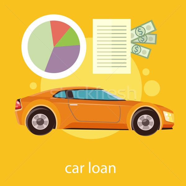 Maşină imprumut document dolari bani Imagine de stoc © robuart