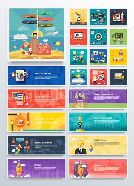 Management digital marketing srartup planning Stock photo © robuart