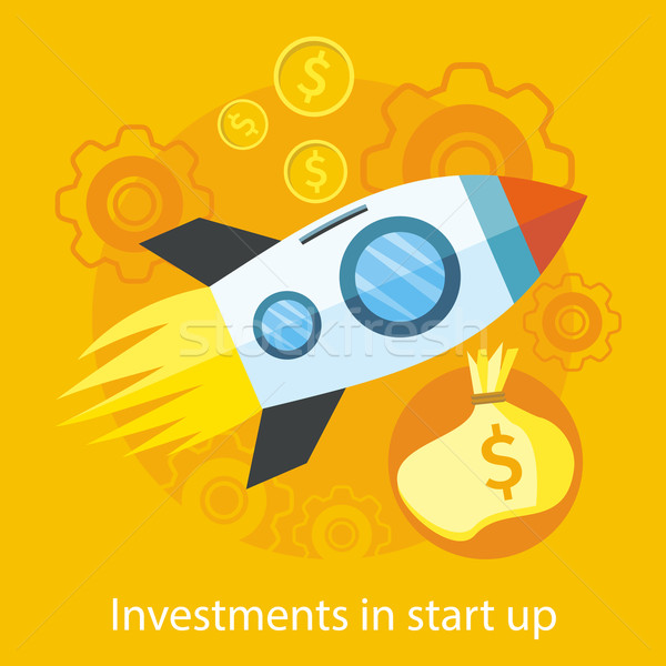 Launching New Product, Start up, Rocket Idea Icon Stock photo © robuart