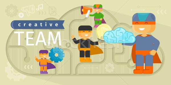 創造 チーム デザイン 創造的思考 創造的な人々 考え ストックフォト © robuart