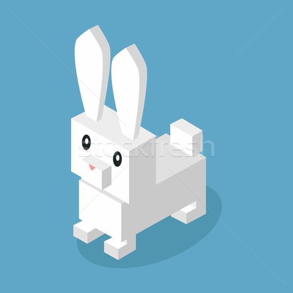 Wild Animal Hare, Rabbit Isometric 3d Design Stock photo © robuart