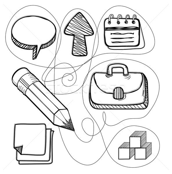 Stockfoto: Beheer · ontwerp · lijn · business · tekening