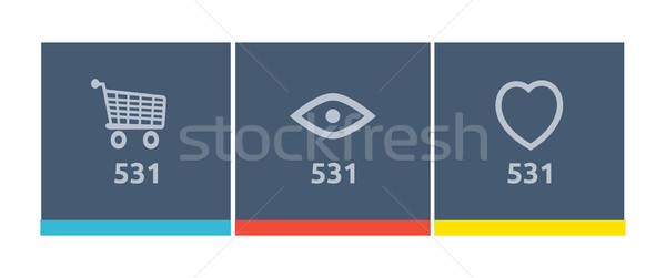 Stronie ikona zakupy jak zakup Zdjęcia stock © robuart