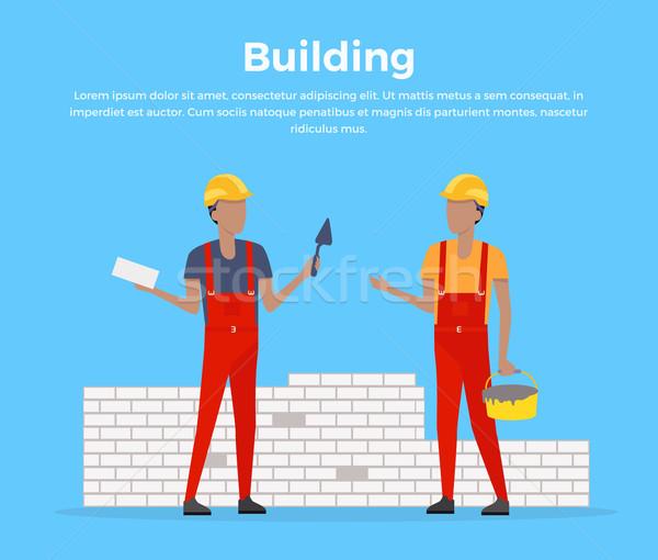 Building Banner Web Design Flat Stock photo © robuart