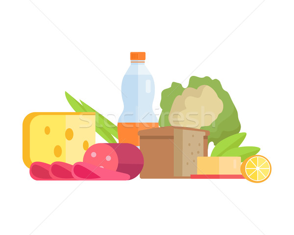 Stock photo: Food Concept Illustration in Flat Style Design.