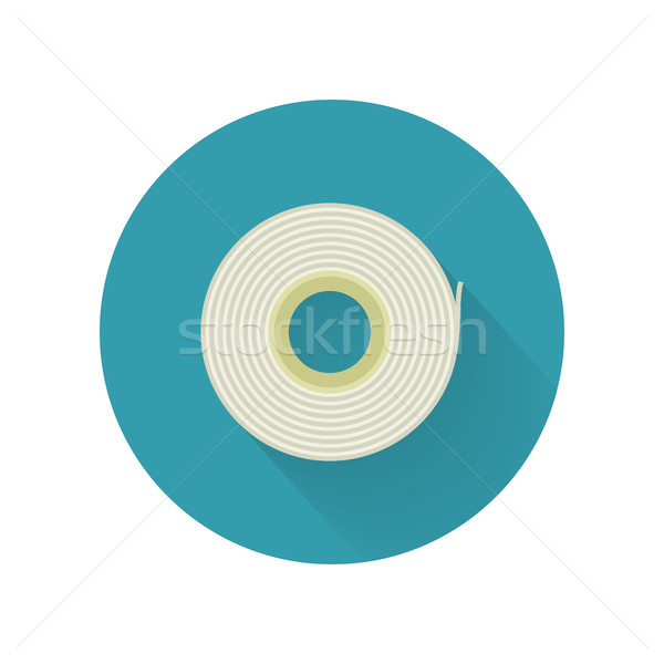 Scotch Tape Vector Icon in Flat Style Design Stock photo © robuart
