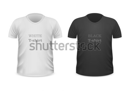 Front View White and Black T-Shirts Isolated Stock photo © robuart