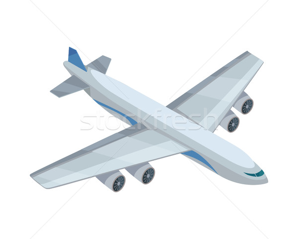Airplane Vector Icon in Isometric Projection Stock photo © robuart