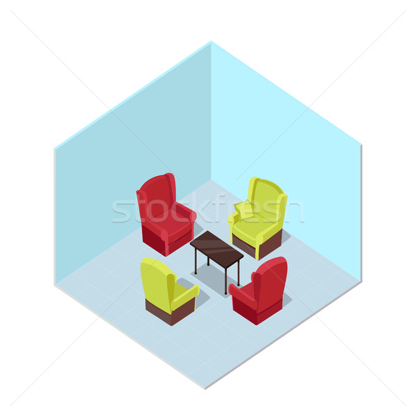 Apartment Illustration in Isometric Projection Stock photo © robuart