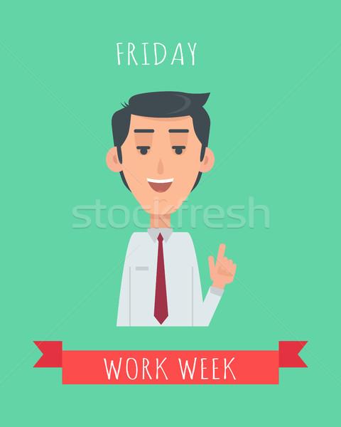 çalışmak hafta duygusal vektör dizayn mutlu Stok fotoğraf © robuart