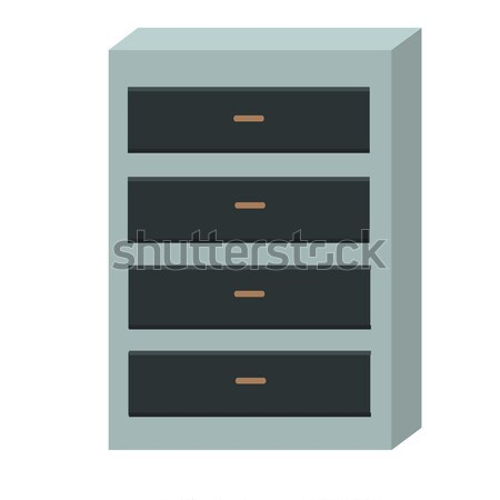 Chest of Drawers Isolated on White Background. Stock photo © robuart