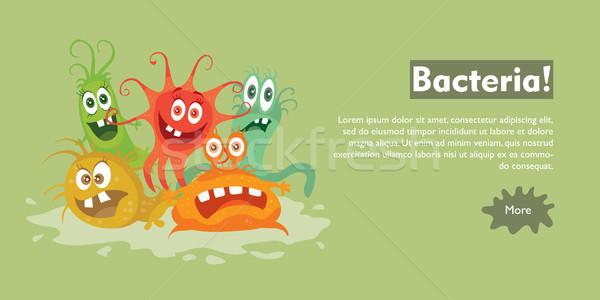 細菌 漫画 ベクトル ウェブ バナー グループ ストックフォト © robuart