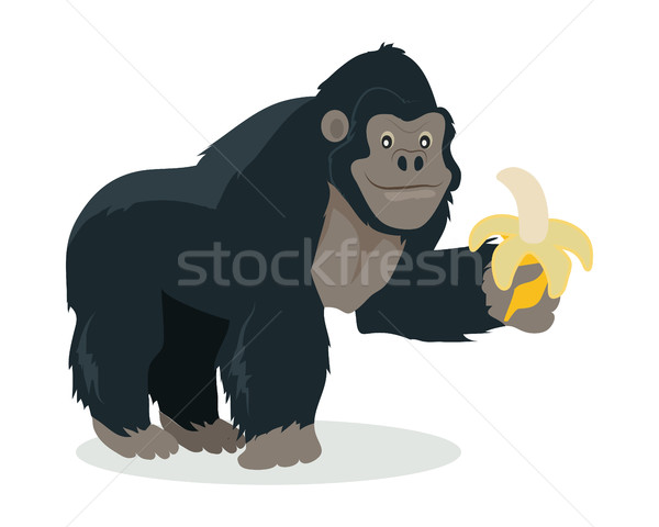 Gorilla Cartoon Icon in Flat Design Stock photo © robuart