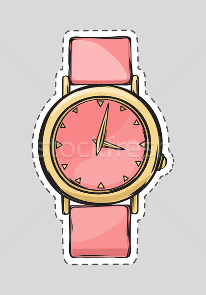 Pink Watch. Cut it out. Isolated Fashionable Thing Stock photo © robuart