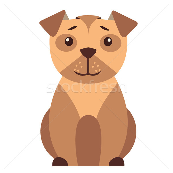 Cute cartoon vector icon grappig Stockfoto © robuart
