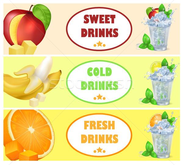 Dulce frío frescos bebidas sabroso jugoso Foto stock © robuart