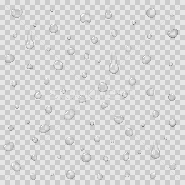 Seamless Pattern with Rain Drops Isolated Vector Stock photo © robuart