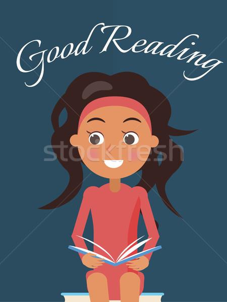 良い 読む ポスター ブルネット 若い女の子 オープン ストックフォト © robuart