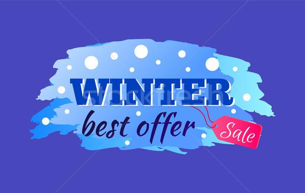 Tél vásár legjobb ajánlat címke hirdetés Stock fotó © robuart
