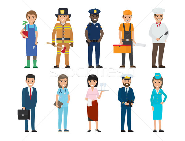 Policeman, Lifesaver, Mariner, Cook, Stewardess Stock photo © robuart