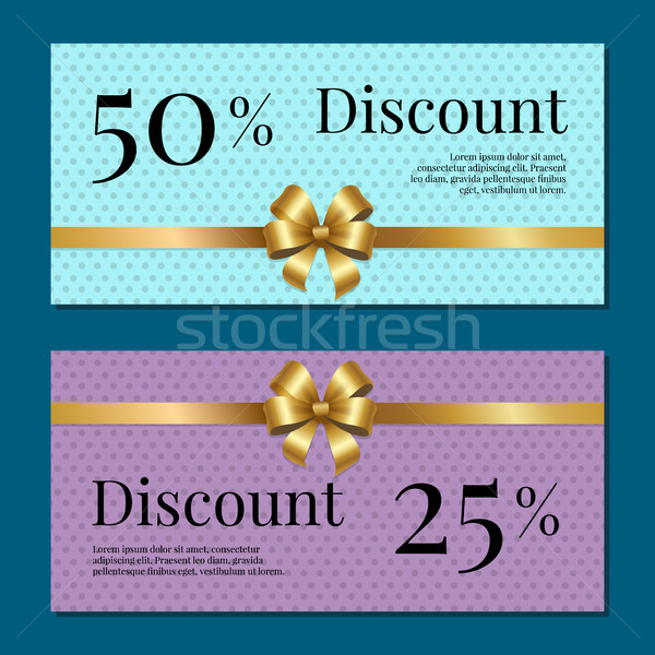 Desconto 50 25 por cento conjunto pôsteres Foto stock © robuart