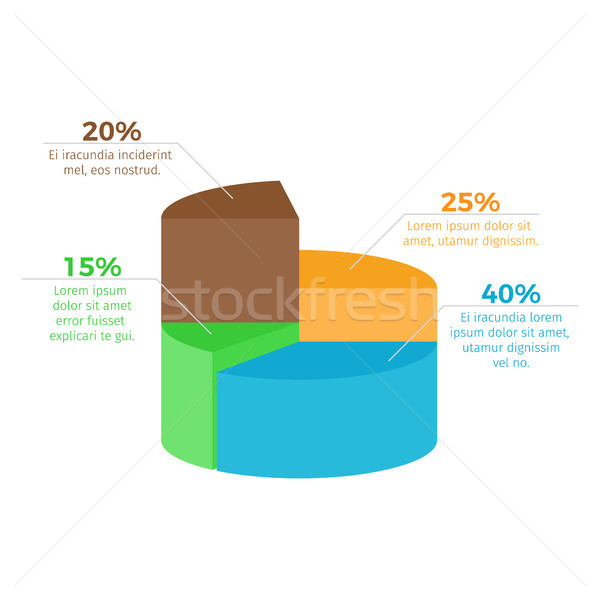 Infographic with Percentage on Vector Illustration Stock photo © robuart