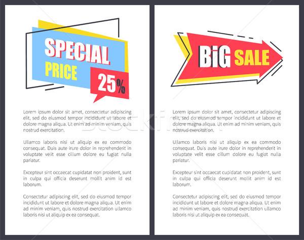 Stockfoto: Groot · verkoop · prijs · posters · speciaal