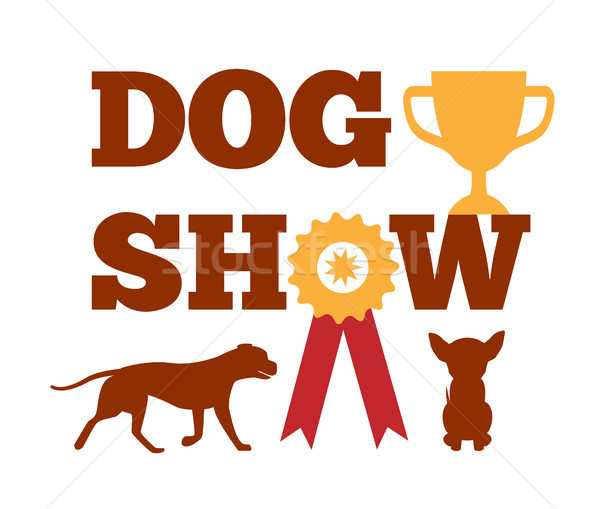 Psa pokaż nagrody wstążka psi zwierząt Zdjęcia stock © robuart