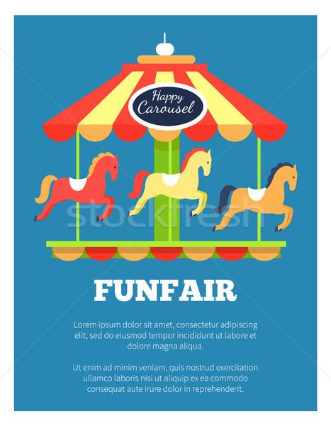 Funfair Advertisement Poster Vector Illustration Stock photo © robuart