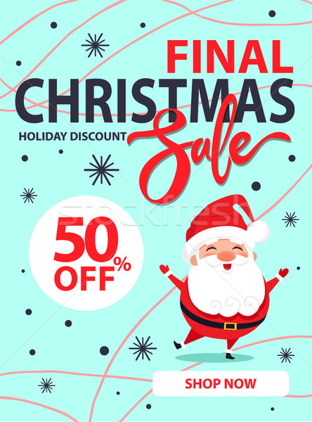 Christmas Final Sale Holiday Discount Poster Santa Stock photo © robuart