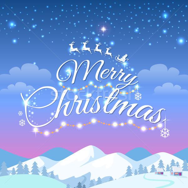 Сток-фото: веселый · Рождества · гор · белый