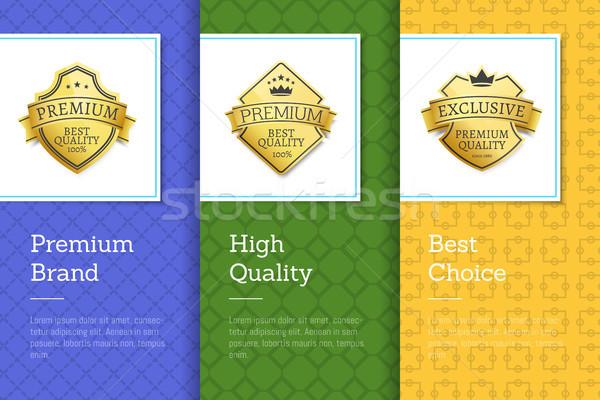Prémium márka magas minőség legjobb választás szett Stock fotó © robuart